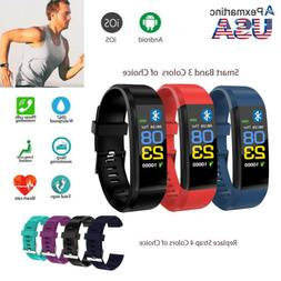 Smart Band Bluetooth Watch Bracelet Fitness Tracker Heart Ra