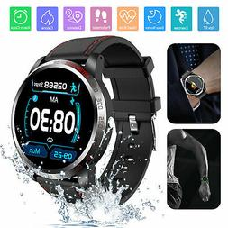 Smart Bluetooth Sports Watch Heart Rate Blood Pressure Monit