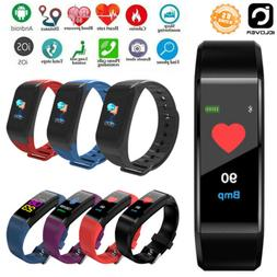 Smart Bracelet Fitness Tracker Stop Watch Heart Rate Blood P