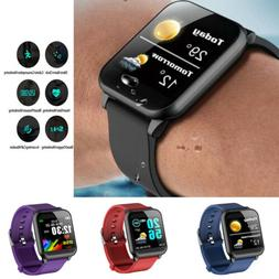 Smart Watch Fitness Tracker w/ Blood Press Monitor for andro