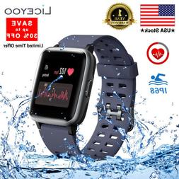 """LICEYOO Smart Watch Fitness Tracker with 1.3"""" Touch Screen H"""