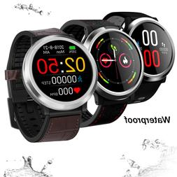 Luxury Bluetooth Smart Watch Monitor Heart Rate Compatible w