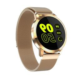 Rose Gold Smart Watch with Heart Rate Monitor All Notificati