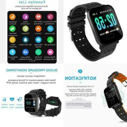 Smart Watch with Heart Rate Monitor Fitness Tracker Blood Pr