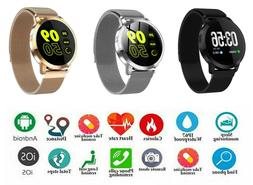 NEW SMART WATCH WITH METAL MAGNET STRAP HEART RATE ACTIVITY