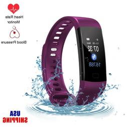 Sports Blood Pressure Monitor Heart Rate Smart Wrist Band Wa