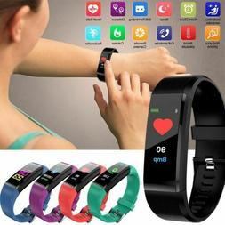 Sports Smart Bracelet Watch Heart Rate Blood Pressure Steps