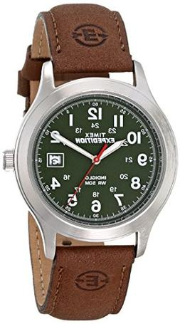 Timex Men's T40051 Expedition Metal Field Brown Leather Stra
