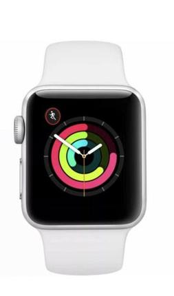 Apple Watch Series 3 GPS with White Sport Band 38mm Silver M