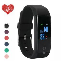 Waterproof Fitness Activity Tracker Smart Watch With Heart R