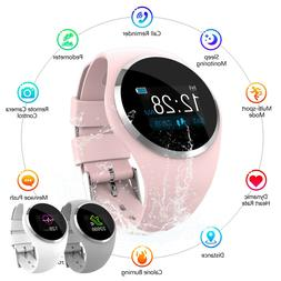 Women Girl Bluetooth Smart Watch Phone Mate Heart Rate For I