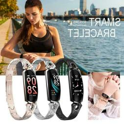 Women Sports Smart Watch Blood Pressure Heart Rate Monitor F