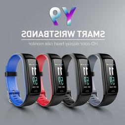 Y9 Smart Band Heart Rate Blood Pressure Monitor ABS Wristban